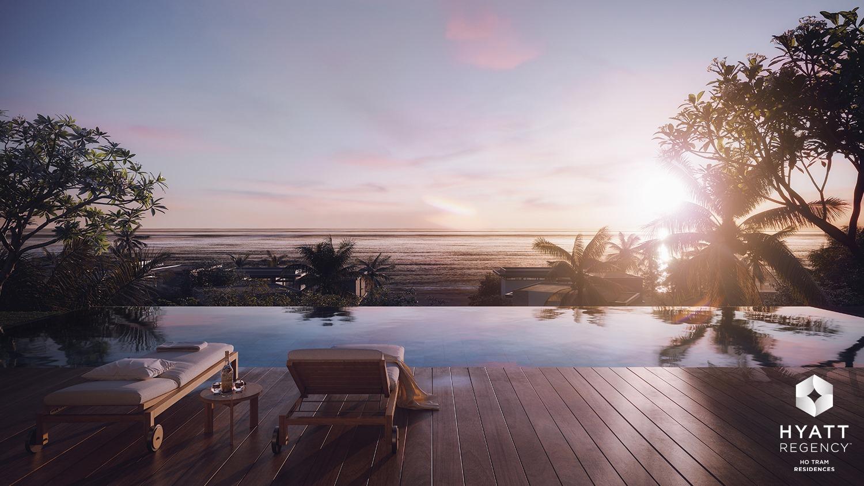 Hồ bơi tràn viền Hyatt Regency Hồ Tràm