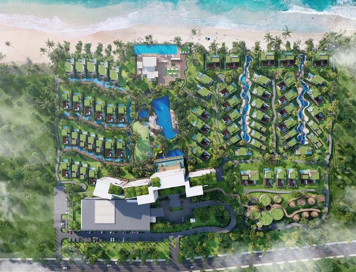 Mặt bằng tổng thể của dự án biệt thự biển Hyatt Regency Hồ Tràm